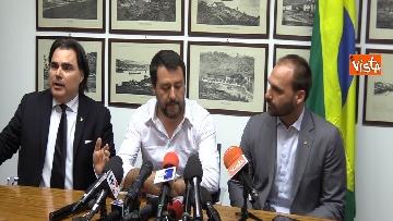 1 - L'incontro a Milano tra Salvini e E. Bolsonaro