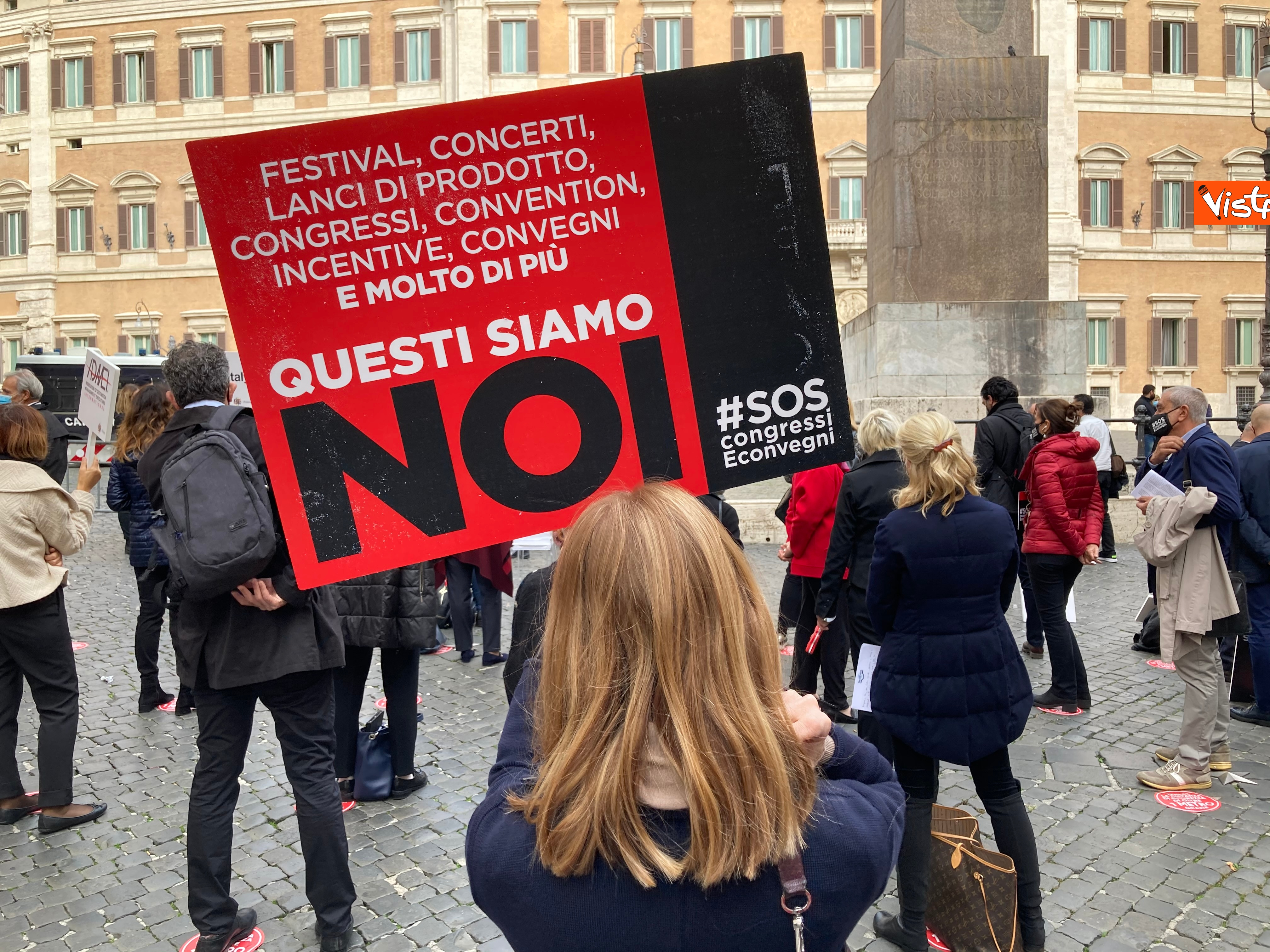Cartellone di un manifestante