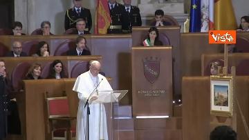 3 - Papa Francesco in Campidoglio, l'intervento in Aula Giulio Cesare