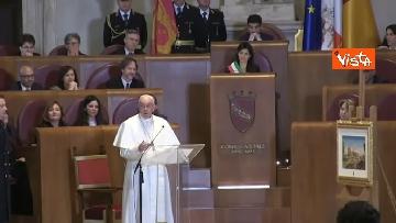 4 - Papa Francesco in Campidoglio, l'intervento in Aula Giulio Cesare