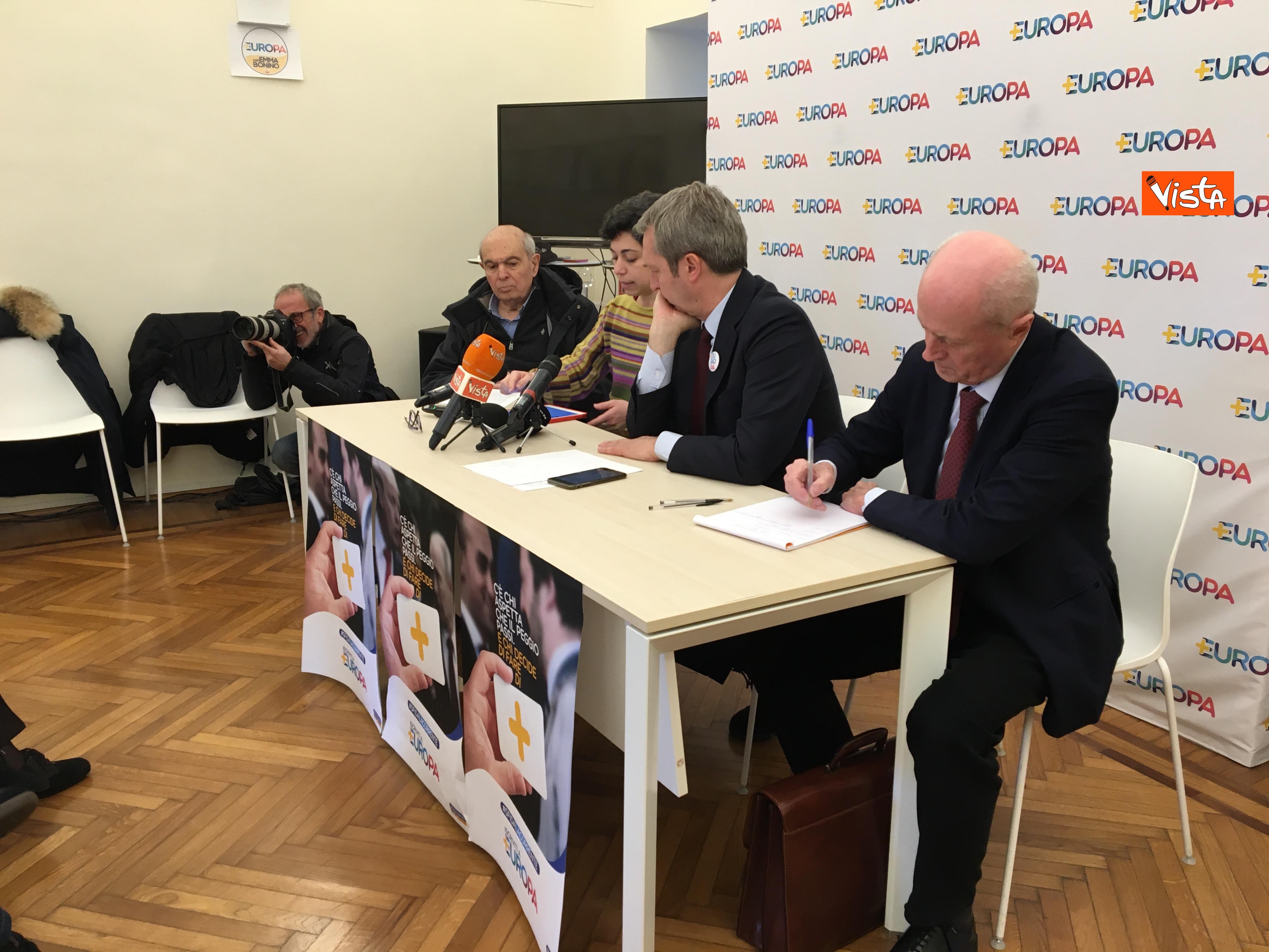 21-01-19 Europa la conferenza di presentazione del Congresso a Milano_Spadaccia_Manzi_Della Vedova_Tabacci_03