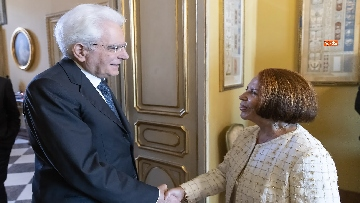 1 - Mattarella incontra l'On. Dott.ssa Lella Golfo, Presidente della Fondazione Marisa Bellisario
