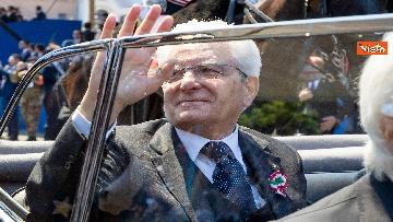 21 - Festa della Repubblica, Mattarella arriva ai Fori Imperiali per assistere alla parata del 2 giugno