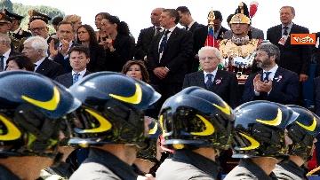 16 - Festa della Repubblica, Mattarella arriva ai Fori Imperiali per assistere alla parata del 2 giugno
