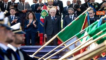 11 - Festa della Repubblica, Mattarella arriva ai Fori Imperiali per assistere alla parata del 2 giugno
