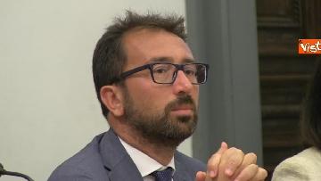 7 - Bonafede e Raggi a presentazione progetto riabilitazione detenuti a Roma
