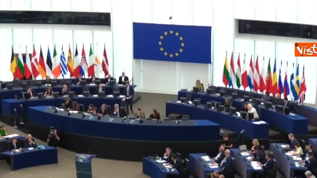 11-09-18 Tsipras al Parlamento Ue per lo State of Union, il dibattito in aula, immagini 04
