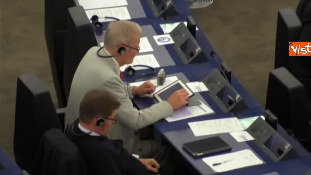 11-09-18 Tsipras al Parlamento Ue per lo State of Union, il dibattito in aula, immagini 09