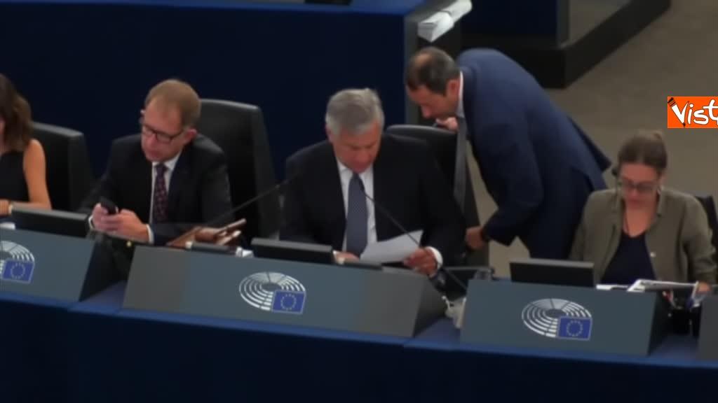 11-09-18 Tsipras al Parlamento Ue per lo State of Union, il dibattito in aula, immagini 05