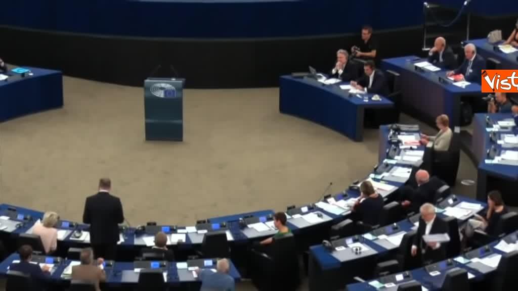 11-09-18 Tsipras al Parlamento Ue per lo State of Union, il dibattito in aula, immagini 07