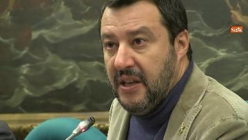 9 - Salvini con i capigruppo Romeo e Molinari in conferenza stampa immagini