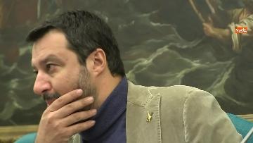 10 - Salvini con i capigruppo Romeo e Molinari in conferenza stampa immagini