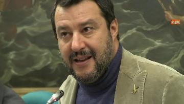 8 - Salvini con i capigruppo Romeo e Molinari in conferenza stampa immagini