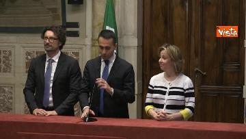 3 - 24-05-18 Consultazioni, la delegazione M5s con Di Maio, Toninelli e Giulia Grillo