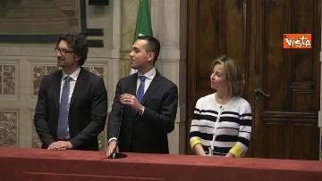 7 - 24-05-18 Consultazioni, la delegazione M5s con Di Maio, Toninelli e Giulia Grillo