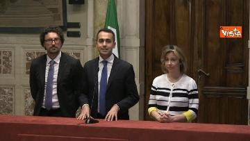 5 - 24-05-18 Consultazioni, la delegazione M5s con Di Maio, Toninelli e Giulia Grillo