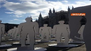 1 - Morti sul lavoro, 1029 sagome bianche in piazza Duomo, l'iniziativa di Ugl