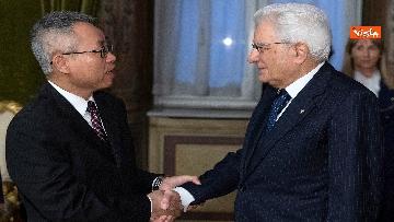 7 - Italia-Cina, Mattarella incontra ambasciatore cinese in Italia Li Junhua