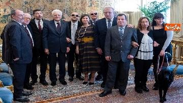 2 - Mattarella incontra delegazione Unione Italiana Ciechi e Ipovedenti al Quirinale