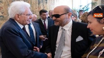 3 - Mattarella incontra delegazione Unione Italiana Ciechi e Ipovedenti al Quirinale