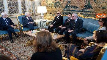 4 - Mattarella incontra delegazione Unione Italiana Ciechi e Ipovedenti al Quirinale