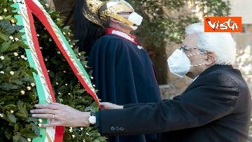 3 - Mattarella rende omaggio alle vittime delle Fosse Ardeatine
