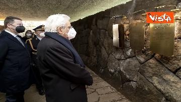 8 - Mattarella rende omaggio alle vittime delle Fosse Ardeatine