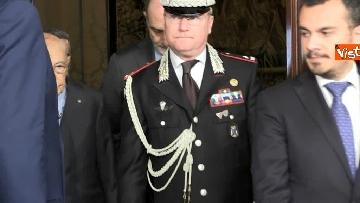 1 - Napolitano dopo il colloquio con Mattarella immagini