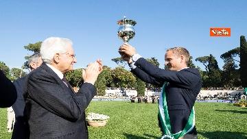 4 - Mattarella al concorso ippico 'Coppa delle Nazioni'