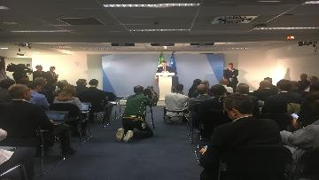 1 - La conferenza stampa di Conte al termine del Consiglio europeo, le immagini