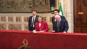 4 - Emma Bonino incontra la stampa dopo il colloquio con Giuseppe Conte