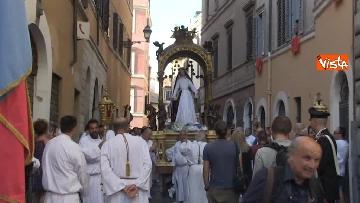 13 - Canti e preghiere alla Festa de Noantri a Trastevere, le immagini della processione