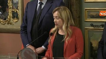 5 - Meloni, Rampelli e Crosetto al termine delle Consultazioni al Senato