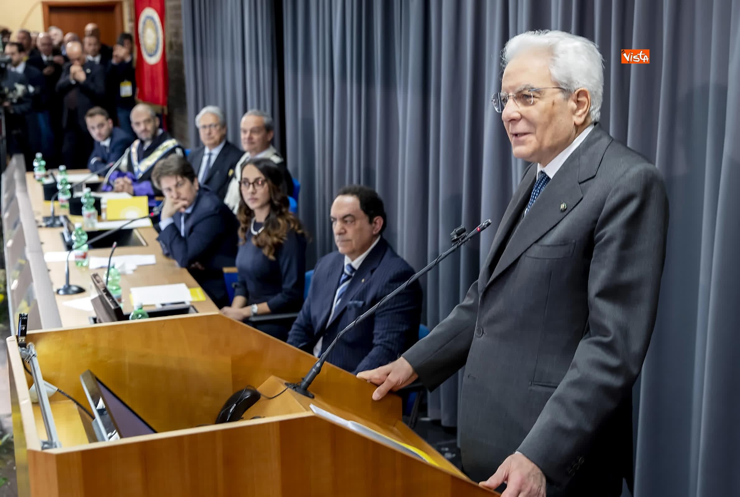 11-03-19 Mattarella alla cerimonia di inaugurazione dell Anno Accademico dell Universita di Cassino_07