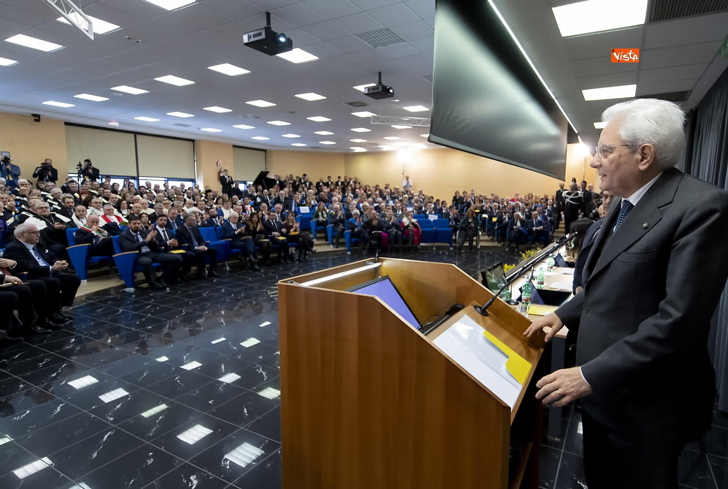 11-03-19 Mattarella alla cerimonia di inaugurazione dell Anno Accademico dell Universita di Cassino_06