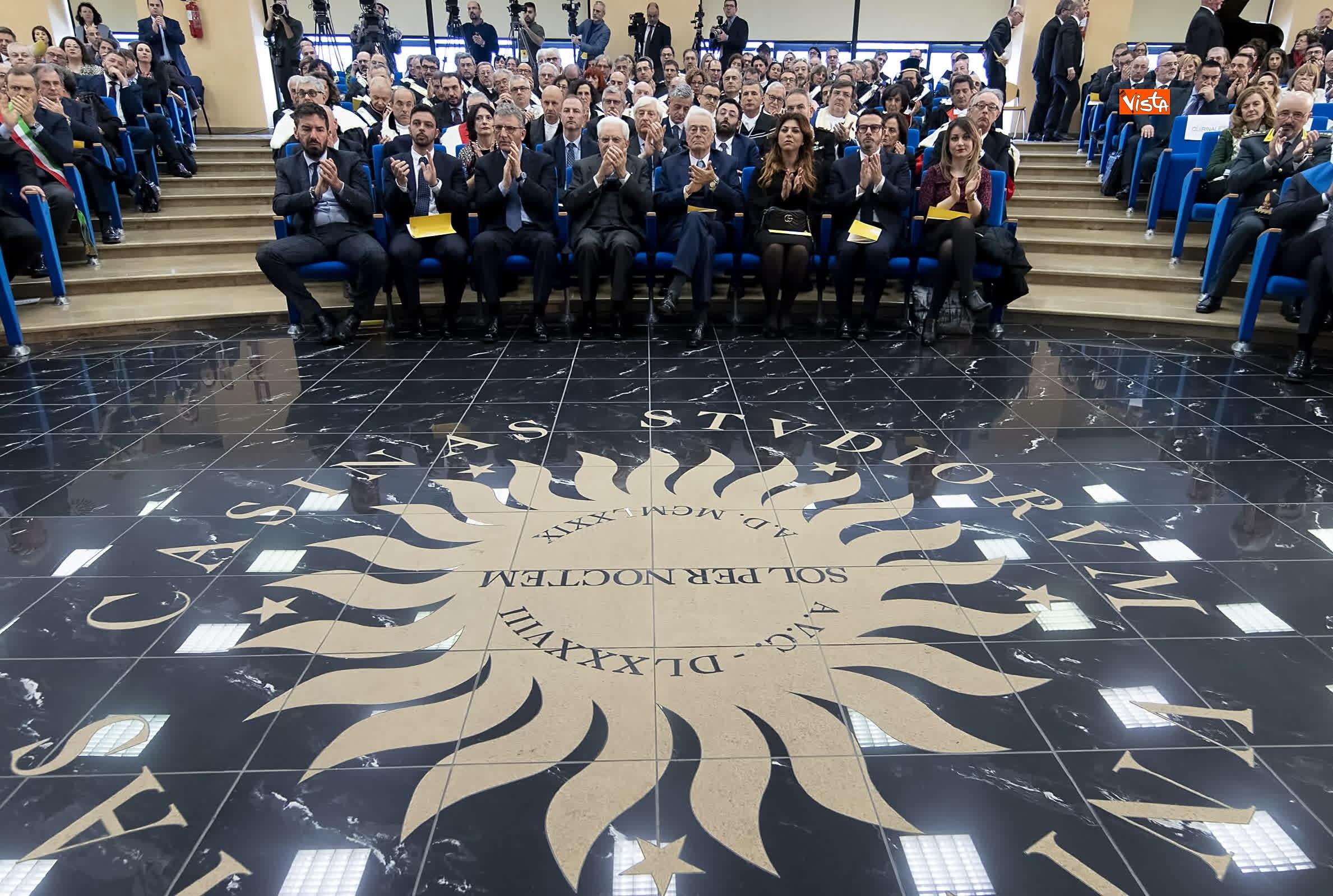 11-03-19 Mattarella alla cerimonia di inaugurazione dell Anno Accademico dell Universita di Cassino_05