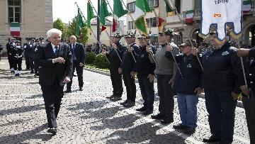 3 - 25 Aprile, il Presidente Mattarella assiste alla Cerimonia dell'alzabandiera a Vittorio Veneto