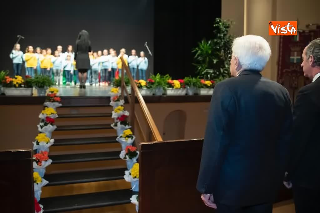 12-03-19 Mattarella alla cerimonia commemorativa dell'alluvione dell ottobre 2018 nella Regione Veneto