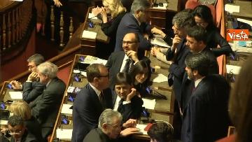 13 - Le prime votazioni per il presidente del Senato con Renzi, Salvini, Iwobi, Segre, Casini, Bossi, Bernini, Bonino, Galliani, Bongiorno, Martelli