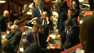 14 - Le prime votazioni per il presidente del Senato con Renzi, Salvini, Iwobi, Segre, Casini, Bossi, Bernini, Bonino, Galliani, Bongiorno, Martelli