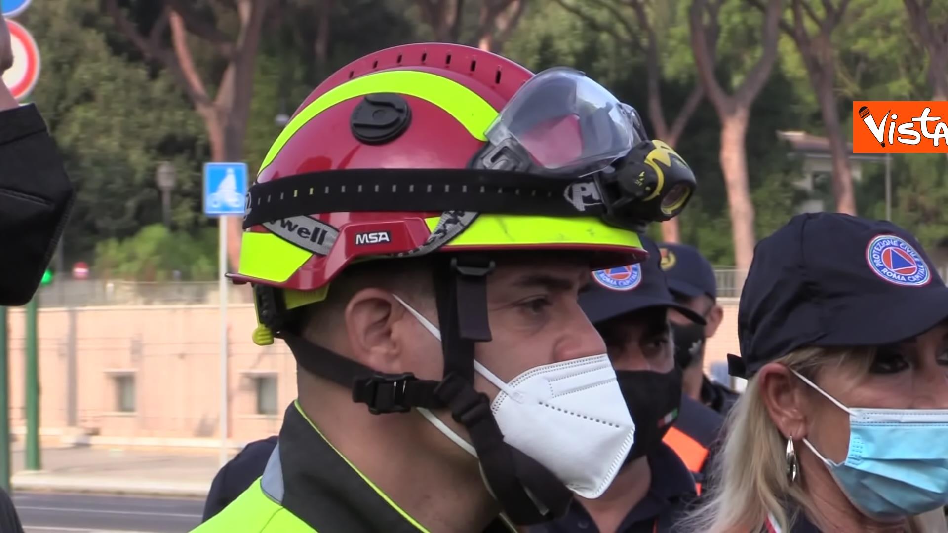 11-09-21 Attentati dell11 settembre Di Maio e Raggi alla cerimonia per i 20 anni a Roma Le immagini_07