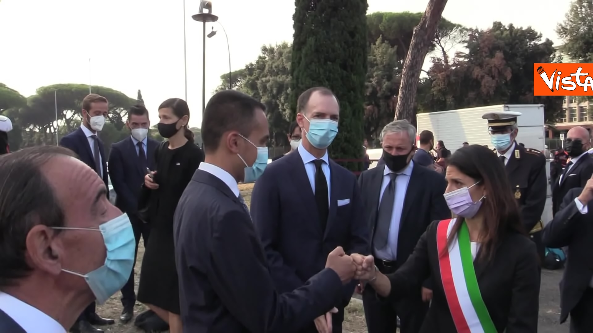11-09-21 Attentati dell11 settembre Di Maio e Raggi alla cerimonia per i 20 anni a Roma Le immagini_05