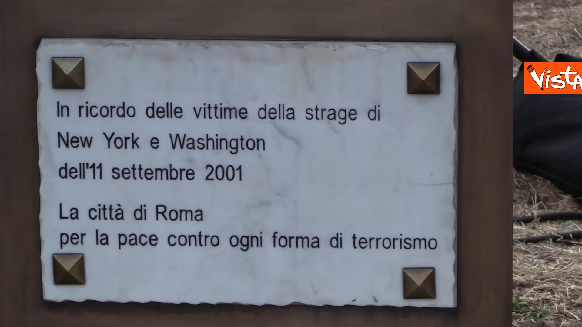 11-09-21 Attentati dell11 settembre Di Maio e Raggi alla cerimonia per i 20 anni a Roma Le immagini_06