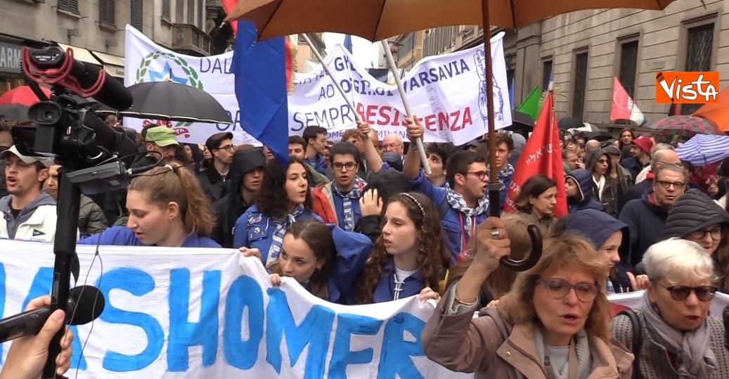 Manifestazione del 25 Aprile a Milano