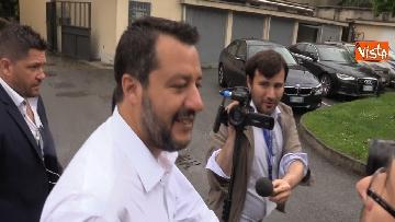 7 - Salvini in conferenza stampa dopo i risultati delle elezioni europee
