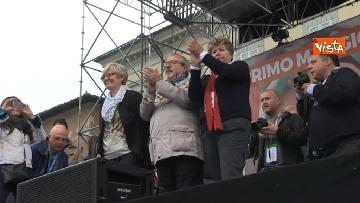 10 - Camusso, Furlan, Barbagallo alla manifestazione del primo maggio a Prato. Presente Martina