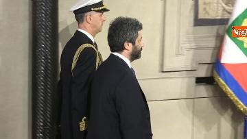 2 - Roberto Fico e il segretario generale del Quirinale Ugo Zampetti dichiarano al termine delle Consultazioni