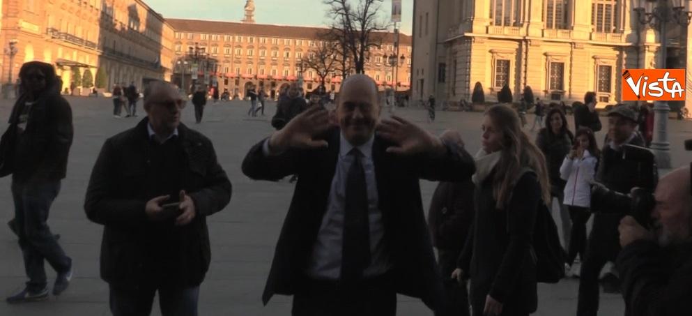 Nicola Zingaretti in piazza Castello a Torino