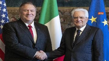 4 - Mattarella riceve al Quirinale il Segretario di Stato degli Stati Uniti d'America, Michael Pompeo