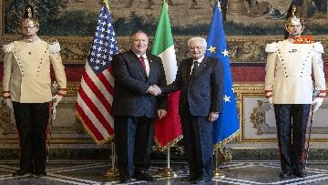 5 - Mattarella riceve al Quirinale il Segretario di Stato degli Stati Uniti d'America, Michael Pompeo